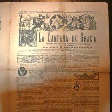 Coleccionismo de Revistas y Periódicos: LA CAMPANA DE GRACIA - ANY XXII BATALLADA 1164 - 12-09-1891. Lote 26285078