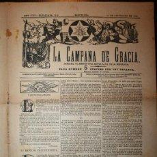 Coleccionismo de Revistas y Periódicos: LA CAMPANA DE GRACIA - ANY XXII BATALLADA 1165 - 19-09-1891. Lote 26285081