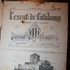 Coleccionismo de Revistas y Periódicos: L'ESCUT DE CATALUNYA - ANY I - Nº 19 - 09-08-1879. Lote 26310079