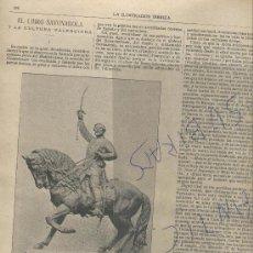 Coleccionismo de Revistas y Periódicos: REVISTA AÑO 1893 GENERAL PRIM GUERRA DE AFRICA ESTATUA EN REUS EXPLISION DE UNA MINA EN DE MAZARRON. Lote 26340442