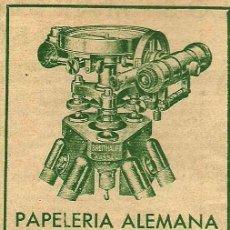 Publicidad Papelería Alemana de Guillermo Koehler- 1936