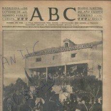 Coleccionismo de Revistas y Periódicos: PERIODICO ABC AÑO 1908 SANTO DOMINGO DE LA CALZADA LA RIOJA AVIACION. VILBUR WRIGHT. AVION.. Lote 26377566
