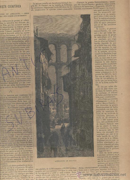 revista.año 1885.golbos aerostaticos.grabados a - Comprar