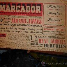 Coleccionismo de Revistas y Periódicos: PERIODICO DEPORTIVO MARCADOR ALICANTE MURCIA 1953. Lote 26808419