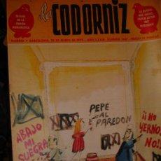 Coleccionismo de Revistas y Periódicos: LOTE 72 REVISTA LA CODORNIZ AÑOS 73-74-75 VARIOS EXTRAORDINARIOS DE LOS 60(LA BELLEZA,MINIEXTRA ). Lote 30370308