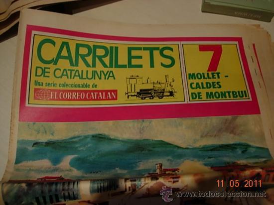 CARRILETS DE CATALUNYA Nº 7 MOLLET CALDES MONTBUI - TRENES VAPOR (Coleccionismo - Revistas y Periódicos Modernos (a partir de 1.940) - Otros)