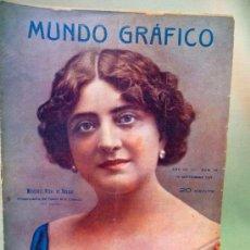 Coleccionismo de Revistas y Periódicos: LIBRO, REVISTA POPULAR ILUSTRADA, MUNDO GRAFICO, Nº 98, 1913,. Lote 26840094