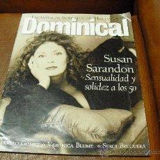 Coleccionismo de Revistas y Periódicos: REV DOMINICAL 4/1996.SUSAN SARANDON-AMPLIO RPTJE .LIOS EN HOLLYWOOD,. 5O AÑOS DE VESPA, V.BLUME,. Lote 27038136