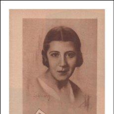 Coleccionismo de Revistas y Periódicos: MUCHACHAS CONOCIDAS. ANA MARÍA GONZÁLEZ TABLAS. 1932. BLANCO Y NEGRO.. Lote 27171044