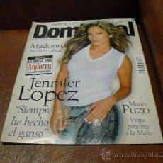 Coleccionismo de Revistas y Periódicos: REV. DOMINICAL 6/2000 JENNIFER LOPEZ GRAN.L RPTJE. MADONNA, JUDE LAW , COMPLICES, MANZANITA,. Lote 27308564