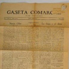 Coleccionismo de Revistas y Periódicos: DIARI D'IGUALADA - GASETA COMARCAL ANY I NÚM. 120 (SEGONA EPOCA), ANY 1930. Lote 27378332