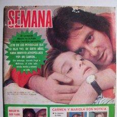Coleccionismo de Revistas y Periódicos: SEMANA AÑO XXXIV Nº1759. 3 NOVIEMBRE 1973. Lote 27431114