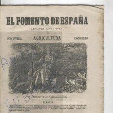 Coleccionismo de Revistas y Periódicos: REVISTA.AÑO 1864.MAQUINARIA AGRICOLA ANTIGUA.TRACTORES.TRILLADORAS.DE PALANCAS. . Lote 27537335