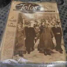 Coleccionismo de Revistas y Periódicos: SEMANARIO GRAFICO FOTOS - 31 DE ENERO 1942 - EL CAUDILLO EN CATALUÑA. Lote 27587774