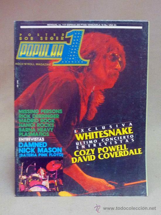REVISTA, POPULAR 1, WHITESNAKE, DAMNED NICK MASON, COZY POWELL, DAVID COVERDALE, Nº 177, 1982 (Coleccionismo - Revistas y Periódicos Modernos (a partir de 1.940) - Otros)