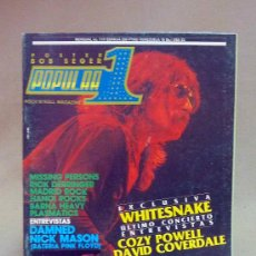 Coleccionismo de Revistas y Periódicos: REVISTA, POPULAR 1, WHITESNAKE, DAMNED NICK MASON, COZY POWELL, DAVID COVERDALE, Nº 177, 1982. Lote 142133356