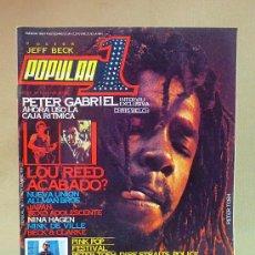 Coleccionismo de Revistas y Periódicos: REVISTA, POPULAR 1, Nº 75, 1979, PETER GABRIEL, LOU REED, POLICE, INCLUYE POSTER. Lote 27627394