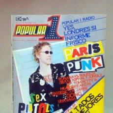 Coleccionismo de Revistas y Periódicos: REVISTA, POPULAR 1, Nº 54, 1977, SEX PISTOLS, PARIS PUNK, NO INCLUYE POSTER. Lote 27628494