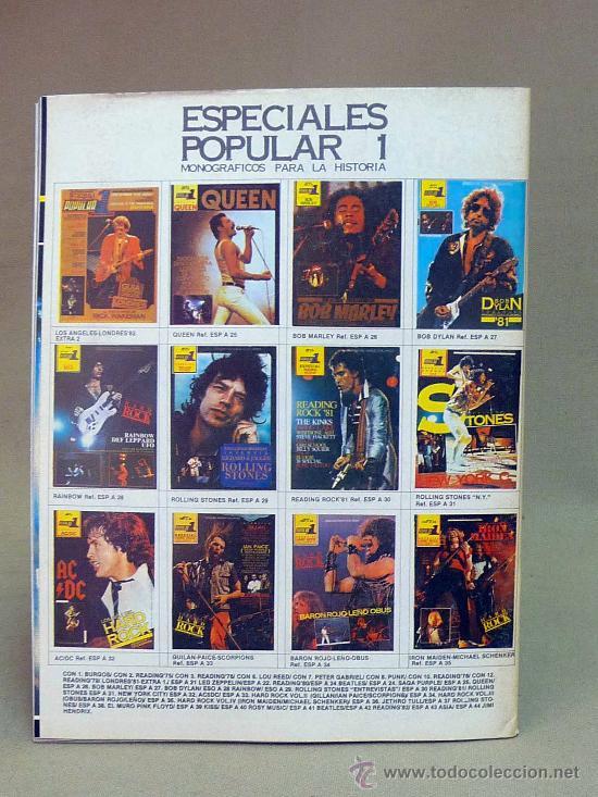 Coleccionismo de Revistas y Periódicos: REVISTA, POPULAR 1, WHITESNAKE, DAMNED NICK MASON, COZY POWELL, DAVID COVERDALE, Nº 177, 1982 - Foto 2 - 142133356