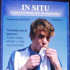 Coleccionismo de Revistas y Periódicos: ALICANTE, REVISTA FUTBOL, HERCULES IN SITU Nº 1 TEMPORADA 2010-11. Lote 27743249