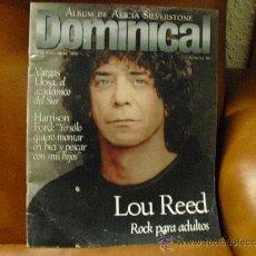 Coleccionismo de Revistas y Periódicos: REV - DOMINICAL Nº 98- 2/1996 -.LOU REED ROCK AMPLIO RPTJE.HARRISON FORD,ALICIA SILVERSTONE,NACHO C. Lote 27763991