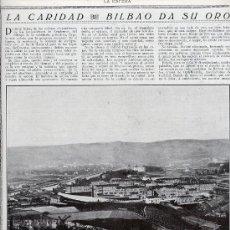 Coleccionismo de Revistas y Periódicos: BILBAO 1916 HOSPITAL CIVIL HOJA REVISTA. Lote 27958776