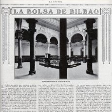 Coleccionismo de Revistas y Periódicos: BILBAO 1916 LA BOLSA HOJA REVISTA. Lote 27958781