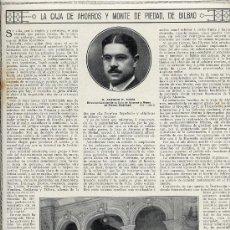 Coleccionismo de Revistas y Periódicos: BILBAO 1916 CAJA DE AHORROS HOJA REVISTA. Lote 27958791