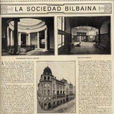 Coleccionismo de Revistas y Periódicos: BILBAO 1916 SOCIEDAD BILBAINA HOJA REVISTA. Lote 27961659