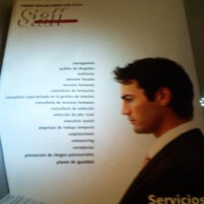 Coleccionismo de Revistas y Periódicos: REVISTA STAFF EMPRESARIAL. INFORMACIÓN Y SERVICIOS PARA EL MANAGER. AÑO XXII.. Lote 27997319