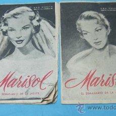 Coleccionismo de Revistas y Periódicos: 2 REVISTAS ANTIGUAS SEMANARIO DE LA MUJER -MARISOL.. Lote 28006772