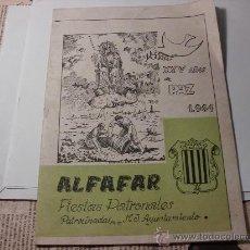Collezionismo di Riviste e Giornali: PROGRAMA DE FIESTAS DE ALFAFAR, VALENCIA, XXV AÑOS DE PAZ 1964. L.24242. Lote 28018277