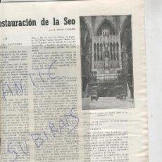 Coleccionismo de Revistas y Periódicos: REVISTA.BAGES.AÑO 1955.23.RESTAURACIO DE LA SEU DE MANRESA. Lote 28051982