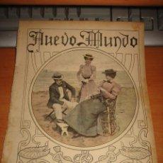 Coleccionismo de Revistas y Periódicos: A ORILLAS DEL MAR PORTADA DE LA REVISTA NUEVO MUNDO 1899. Lote 28059093