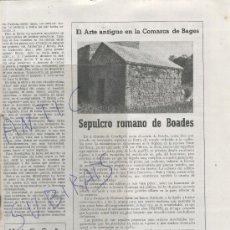 Coleccionismo de Revistas y Periódicos: REVISTA.BAGES.ANY 1958.68.SEPULCRO ROMANO DE BOADES.CASTELLGALI.COCHES RAROS.HUEVO.ISO.. Lote 28066459