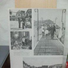 Coleccionismo de Revistas y Periódicos: + SANTANDER VISITA DEL GENERAL FRANCO AÑO 1941. RECORTE DE REVISTA 35 X 27 CM. Lote 28108409