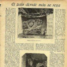 Coleccionismo de Revistas y Periódicos: * TÍBET * EL PAÍS DONDE MÁS SE REZA- 1923. Lote 28212006