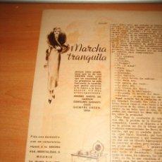 Coleccionismo de Revistas y Periódicos: COCINA DE GAS AGA PUBLICIDAD HOJA DE REVISTA BLANCO Y NEGRO 1935. Lote 28220667
