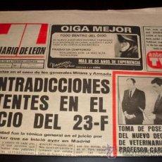 Coleccionismo de Revistas y Periódicos: DIARIO DE LEON - PERIODICO - SABADO 20 FEBRERO 1982. Lote 28241801