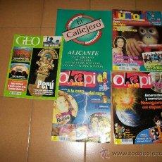 Coleccionismo de Revistas y Periódicos: 5 REVISTAS VARIADAS - GEO, OKAPI, JUNIOR. Lote 28262865