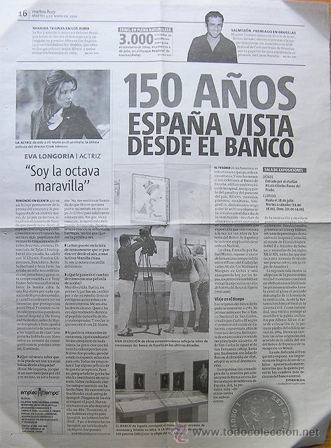 ROLLING STONES APLAZAN SU GIRA ESPAÑOLA- JOSE LUIS PERALES- REVERSO 150 AÑOS DEL BANCO DE ESPAÑA HOJ (Coleccionismo - Revistas y Periódicos Modernos (a partir de 1.940) - Otros)