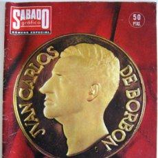 Coleccionismo de Revistas y Periódicos: REVISTA SÁBADO GRÁFICO, NÚMERO ESPECIAL EXTRAORDINARIO SOBRE EL REY JUAN CARLOS -- NOVIEMBRE 1975. Lote 28326494