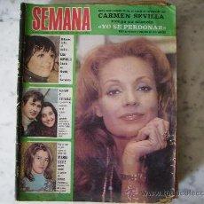 Coleccionismo de Revistas y Periódicos: SEMANA,SERGIO Y ESTIBALIZ-LIZA MINNELLI-MASSIEL-CARMEN SEVILLA,PORTADA Y REPORTAJE-MARIA OSTIZ-. Lote 28350074