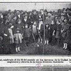Coleccionismo de Revistas y Periódicos: MADRID 1921 CIUDAD LINEAL FIESTA DEL ARBOL RETAL HOJA REVISTA. Lote 28364042