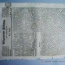 Coleccionismo de Revistas y Periódicos: 1840-PERIÓDICO ALEMÁN.ESPAÑA.ARGELIA.PORTUGAL.. Lote 28366520