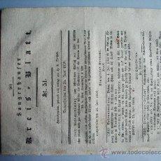 Coleccionismo de Revistas y Periódicos: 1812- PERIÓDICO ALEMÁN SANGERHAUSEN.GUERRA ESPAÑA.EL VERDUGO. Lote 28366842