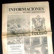 Coleccionismo de Revistas y Periódicos: TOLEDO - REPORTAJE EN SEPARATA DEL DIARIO INFORMACIONES - 21 DICIEMBRE 1979 - 20 PÁGINAS. Lote 28382826