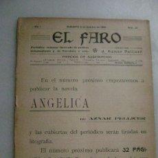 Coleccionismo de Revistas y Periódicos: EL FARO SAGUNTO ..NUM.23 AÑO 1º.150. Lote 28483392