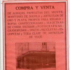 Coleccionismo de Revistas y Periódicos: MADRID 1927 COMPRA-VENTA MANUEL ESTEBAN HOJA REVISTA. Lote 28484641