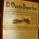 Coleccionismo de Revistas y Periódicos: EL MUNDO DEPORTIVO AÑO1906 Nº1 10 CENTIMOS ORIGINAL FACSIMIL. Lote 28554689